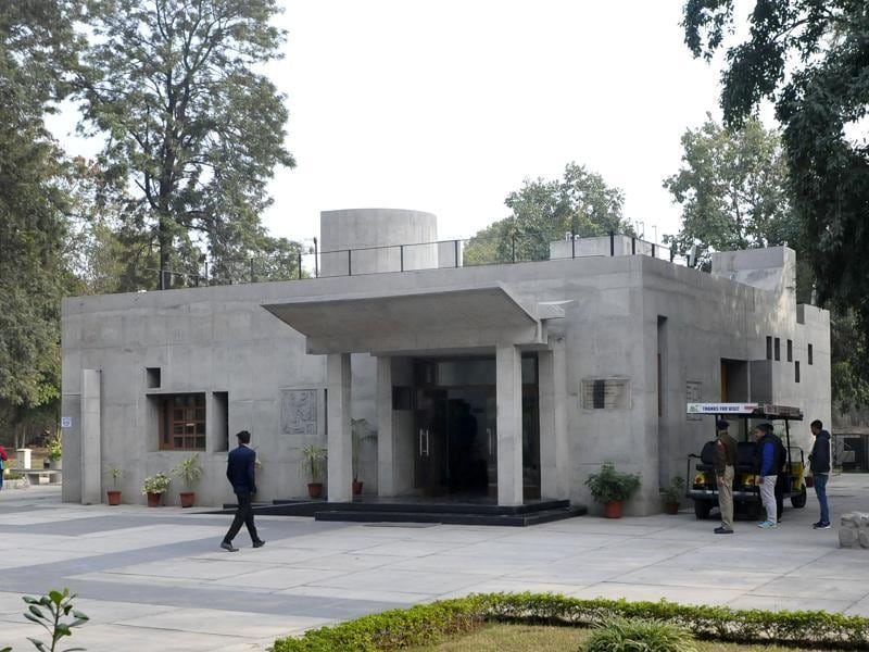 Tourist Information Centre at Capitol Complex, Sector 1, Chandigarh, designed by MN Sharma. (HT Photo)