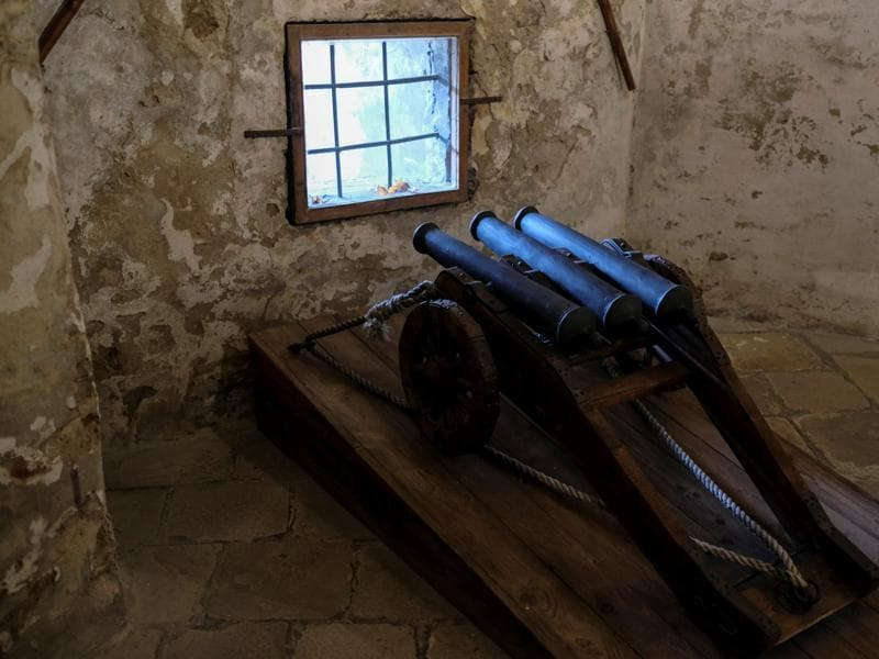 Cannons seen inside Orava Castle. Through the two world wars it remained in a state of disrepair and neglect but soon after was reclaimed as a national monument. (REUTERS)