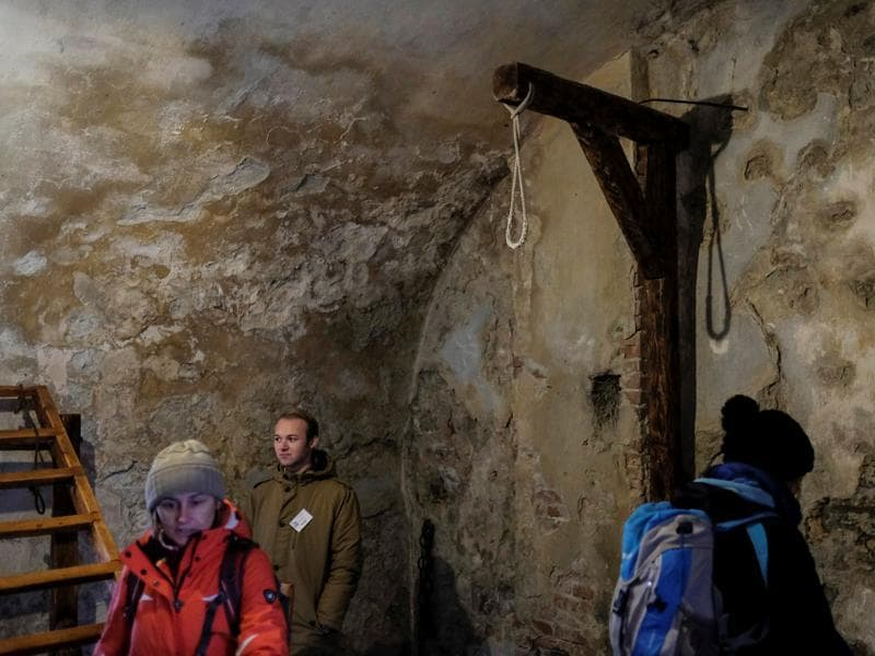 Tourists walk inside Orava Castle. The castle in its present form came into being only in 1611 when the mining magnate Thurzo family took it over and did a fair bit of reconstruction work. (REUTERS)