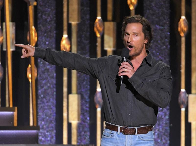 Actor Matthew McConaughey introduces a performance by Tim McGraw at the 50th Annual CMAs (REUTERS)