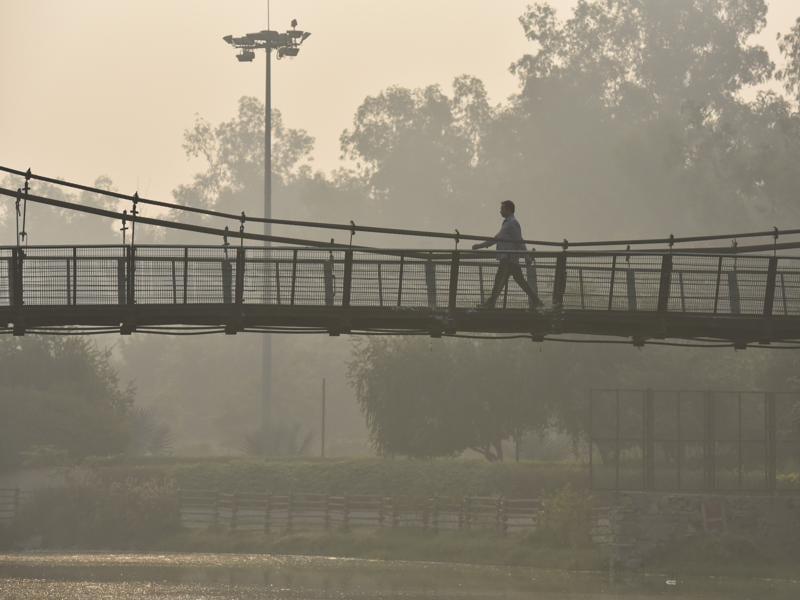 Air pollution levels are 'severe' in Delhi -- a status which would be considered an emergency in other cities such as Beijing, resulting in the city being shut down. Experts say immediate efforts should be made to improve the air as well as protect against the bad air quality. (Raj K Raj/HT PHOTO)