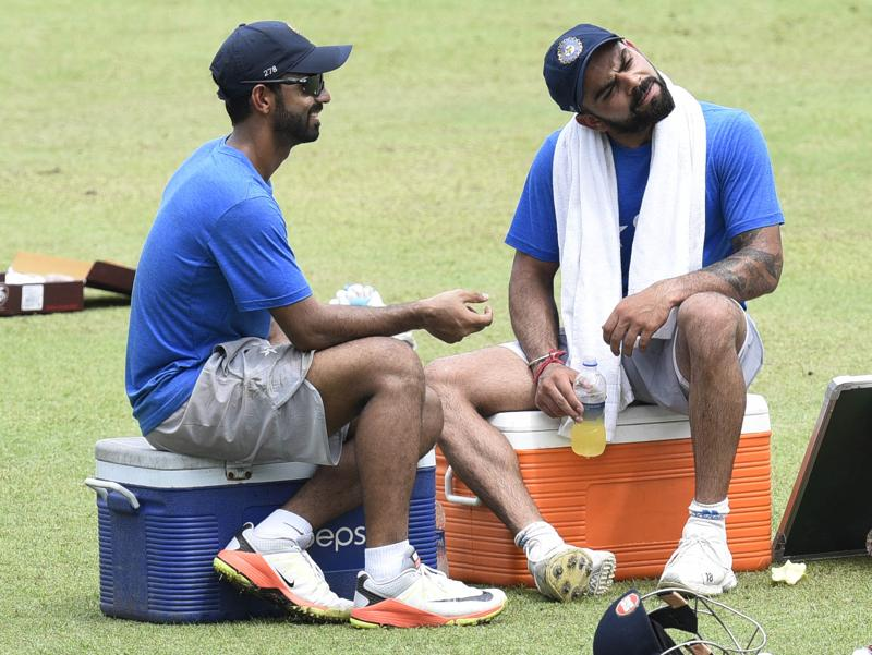 Or just puzzled: 'Wait, what are these West Indies' cricketers up to?' (Subhendu Ghosh / HT PHOTO)