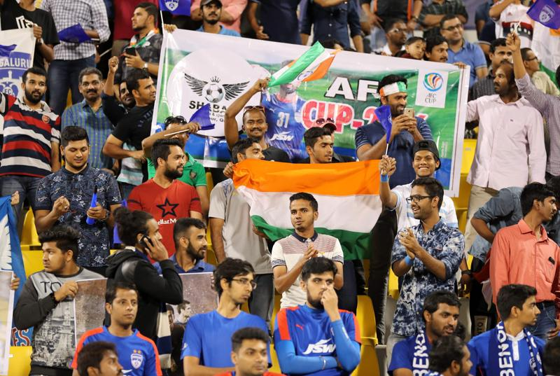 Fans of India's Bengaluru FC had turned up in large numbers in the hope of the team creating history. (AFP)