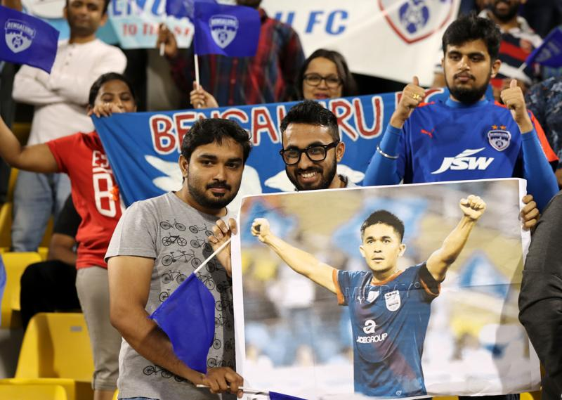 Sunil Chhetri, who was the star of Bengaluru FC and who had helped them get to the final, was one of the favourites. (AFP)