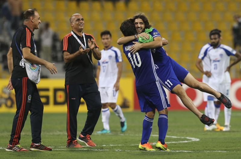 Iraq's Air Force Club became the first Iraqi club to win the AFC Cup after beating India's Bengaluru FC 1-0 in the final in Doha. (AFP)