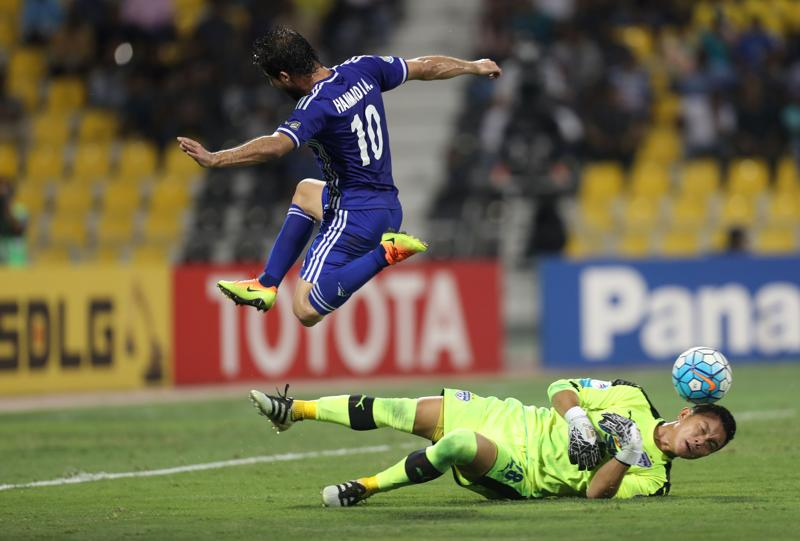 IHammidi Ahmed scored the goal for Iraq Air Force club in the 70th minute to break Bengaluru FC's heart (AFP)