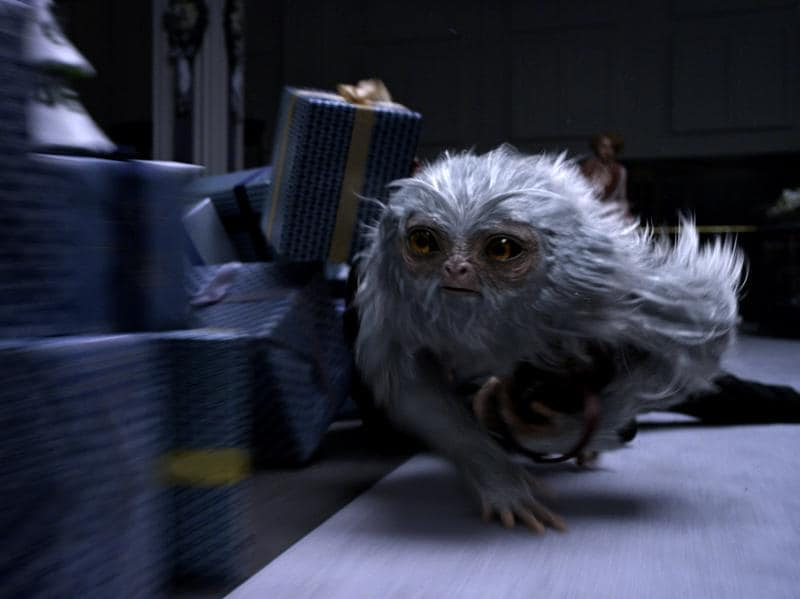Demiguise: Peaceful, ape-like herbivores with the ability to turn invisible when threatened (Pottermore)