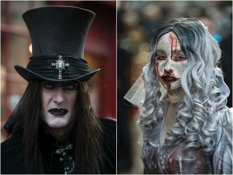 Still reeling under the after effects of Halloween? We've got you a fantastic excuse to continue celebrating it in spirit and form — Whitby Goth Weekend festival. (AFP)