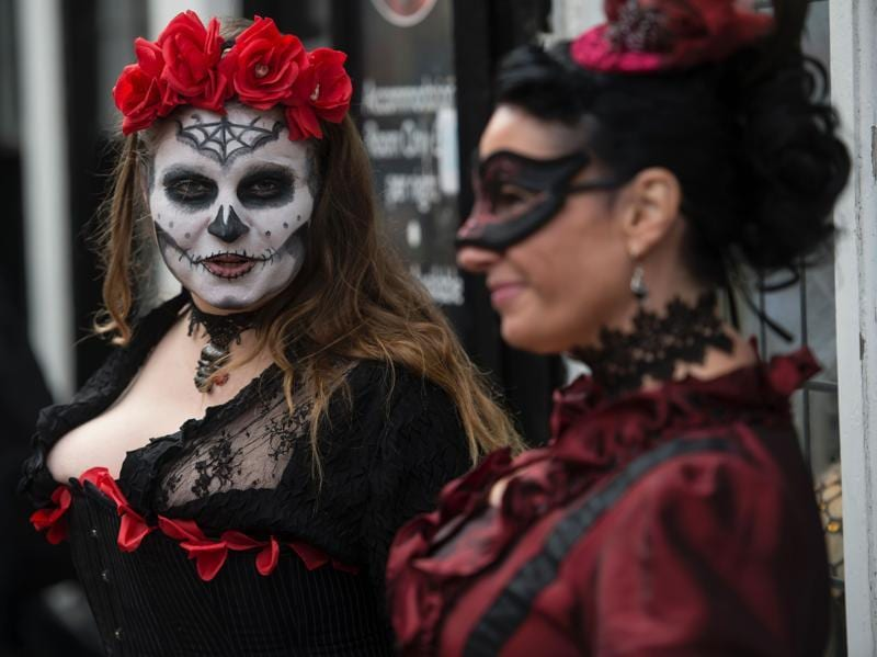 Though it's a festival celebrating Gothic culture, there isn't any dress code. Participants can wear anything from jeans to the most bizarre of clothes and make-up.  (AFP)
