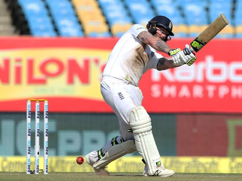 Ben Stokes of England in action during day 2 of the first test match between India and England. (BCCI/ SPORTZPICS)