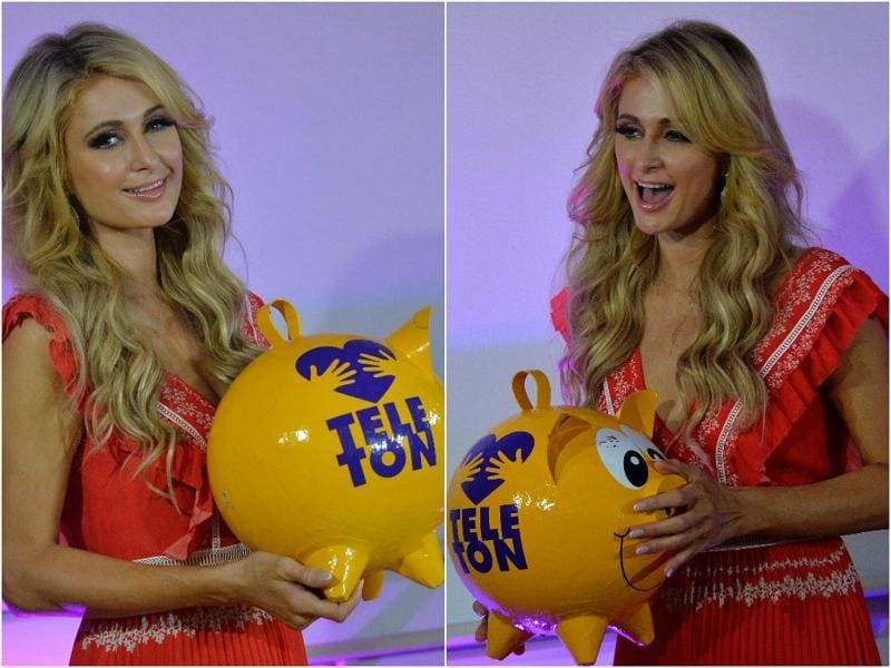 Paris Hilton is the latest celebrity to extend support to the organisation that is touted to be the largest private medical unit and rehabilitation center for children in the world. (AFP)