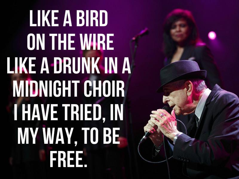 "His contemporary Kris Kristofferson once said that he wanted the opening lines to Cohen's ""Bird on a Wire,"" on his tombstone.. (Reuters)"