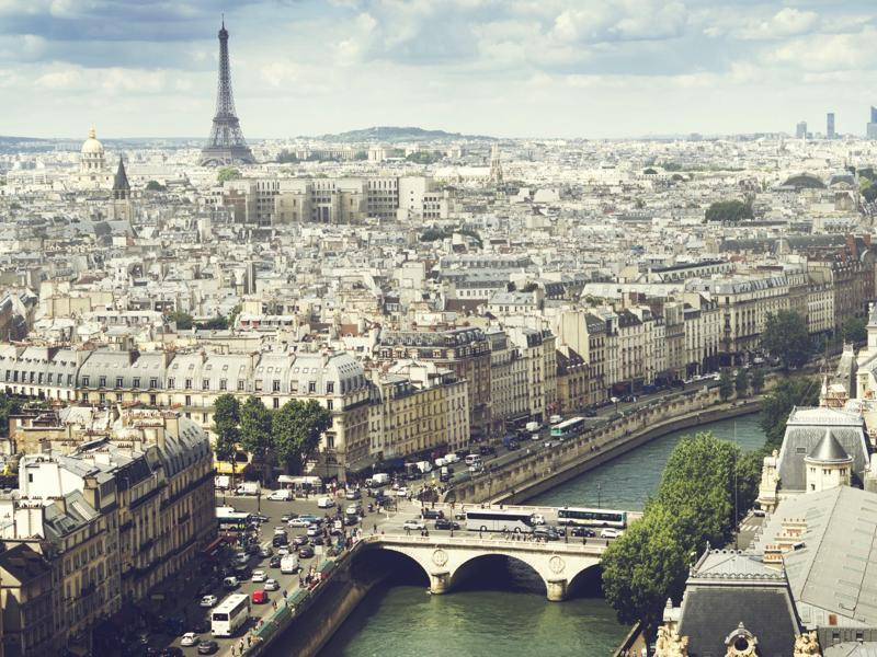 In other worlds, characteristics like open spaces, diversity, safety, prosperity, restaurants and nightlife, arts and culture. Seen here is Paris.