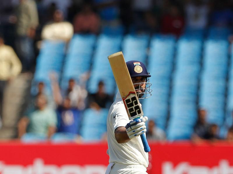 Murali Vijay notched up his 15th Test fifty and he was looking in great touch. (BCCI)