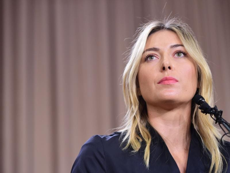 The UN announced that UNDP is glad to learn that Maria Sharapova can return to the sport she loves sooner than expected and we will lift the suspension of her role as our goodwill ambassador once the reduced ban expires.  (Robyn Beck/ AFP Photo)