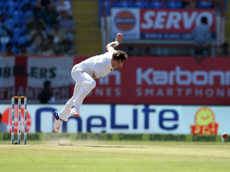 Chris Woakes was the only bowler who troubled the Indian batsmen with his short-ball barrage. (BCCI)