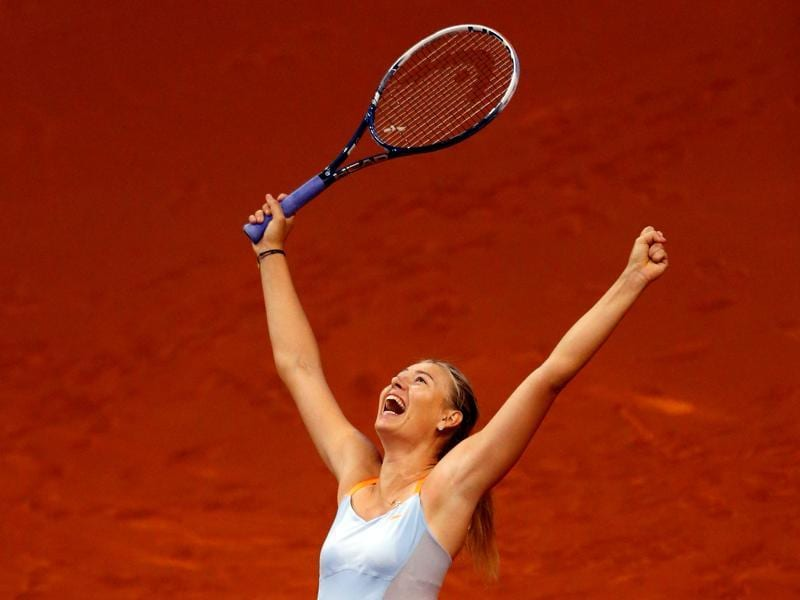 Sharapova, who is also an Olympics medalist finally have good days ahead of her and we wish her all the best.  (Michael Dalder/Reuters Photo)