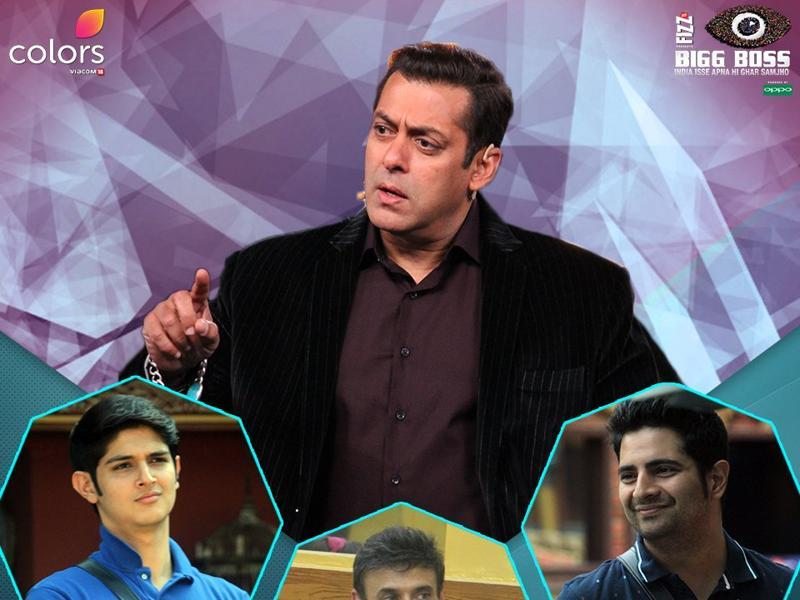 Later in the episode, Salman Khan chides the celebrities for being inactive and making the show boring. (COLORS)