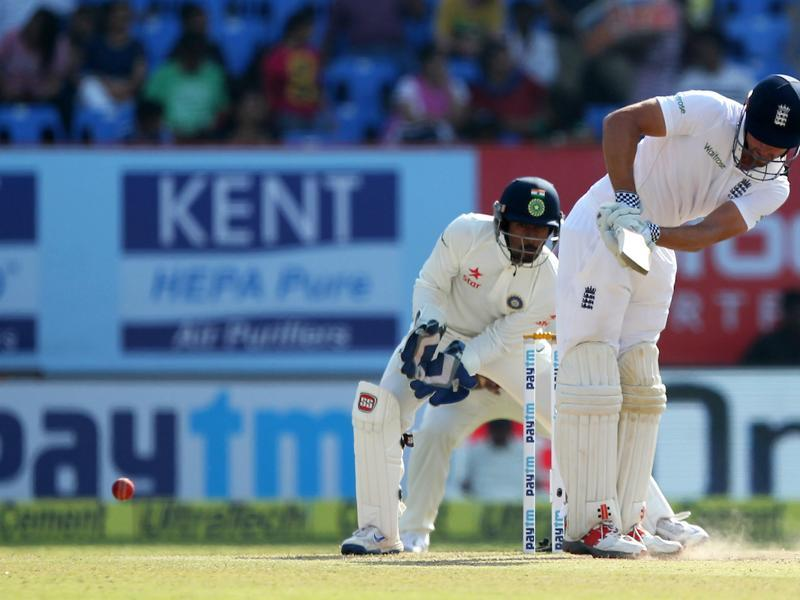 Alastair Cook and Haseeb Hameed took their partnership past 100 as India struggled to take wickets. (BCCI)