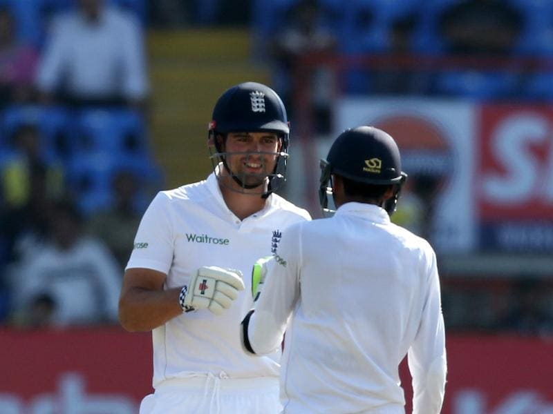 Alastair Cook and Haseeb Hameed once again strung a solid partnership as India attacked with spin in the second innings. (BCCI)