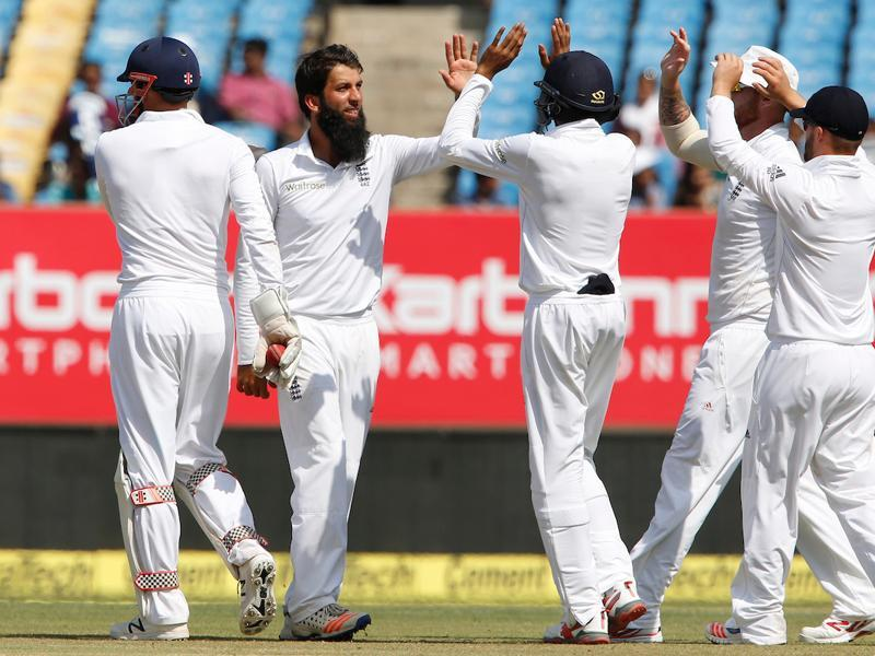 Moeen Ali picked up the final wicket as India were bowled out for 488, giving England a vital lead of 49 runs on a pitch that was still good for batting. (BCCI)