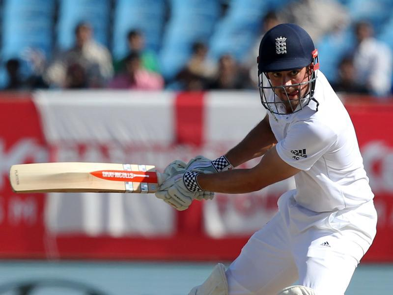 Alastair Cook grew in confidence and he smashed a couple of boundaries as England got good momentum at the start. (BCCI)