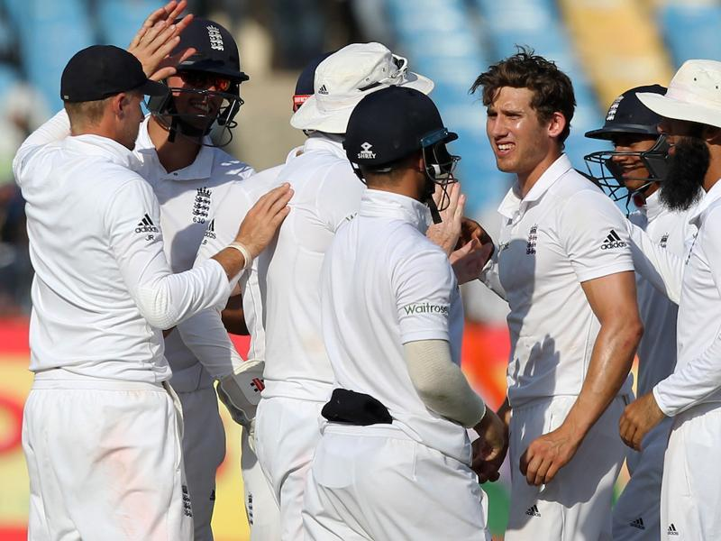 Zafar Ansari and Adil Rashid picked up the wickets of Ashwin and Saha as India faced some nervous moments towards the end. (BCCI)