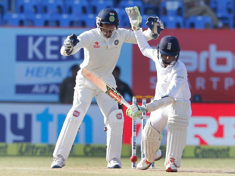 Haseeb Hameed hung in and ensured England did not suffer any jolts in the first hour of the final day. (BCCI)