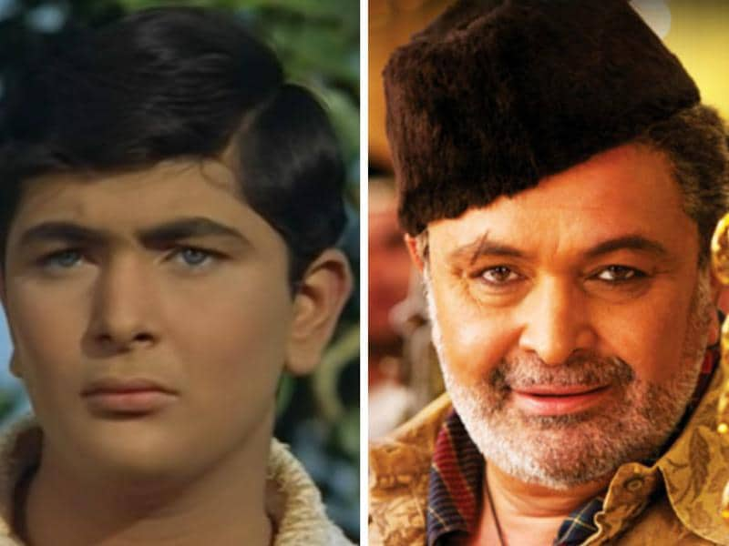 Rishi Kapoor first appeared as a child actor in Mera Naam Joker (1970).