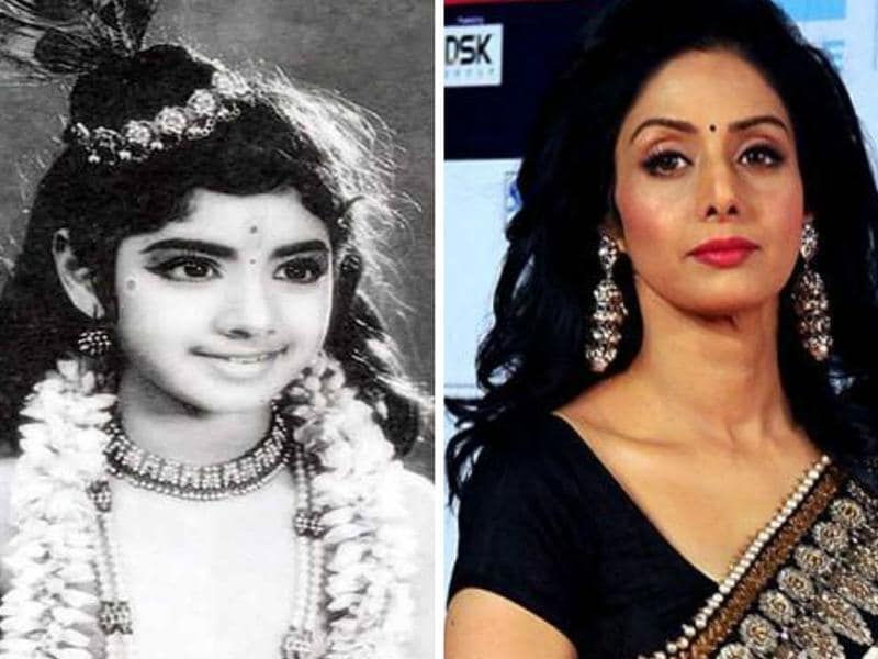 Sridevi first appeared onscreen as a child artist in the Tamil film Thunaivan (1969) at the age of four.