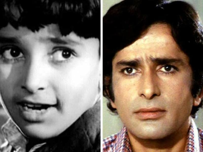Shashi Kapoor made his formal entry into films as a child artist in the 1940s. His best-known performances are in Aag (1948) and Awaara (1951).