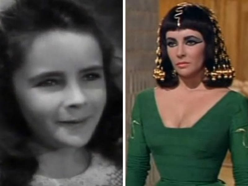 The stunning British-American actor Elizabeth Taylor too made her film debut as a child actor in the 1940s.