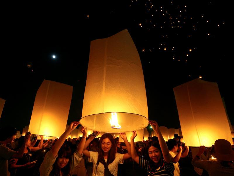 Organised in Chiang Mai, this year the festival was observed from November 13 to 15. The biggest lantern release is usually held behind Chiang Mai's Mae Jo University, at the Lanna Dhutanka grounds. (Reuters)