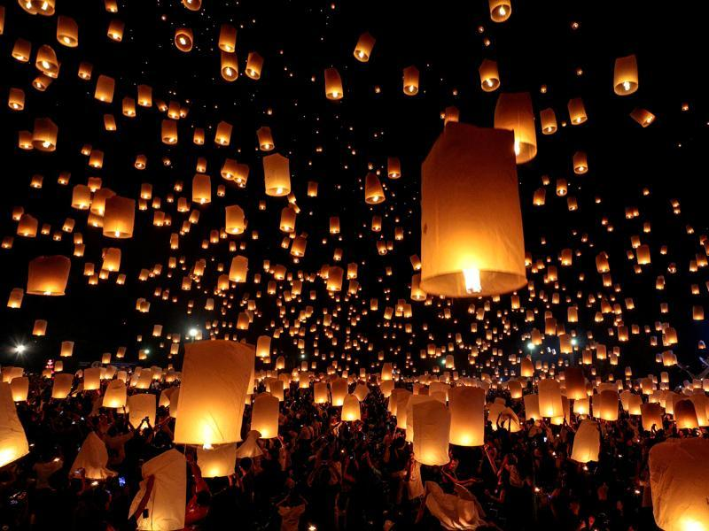 Yi Peng or Yee Peng (as it's locally known) is part of the festival of lights celebration in Northern Thailand to pay homage to lord Buddha. (Reuters)