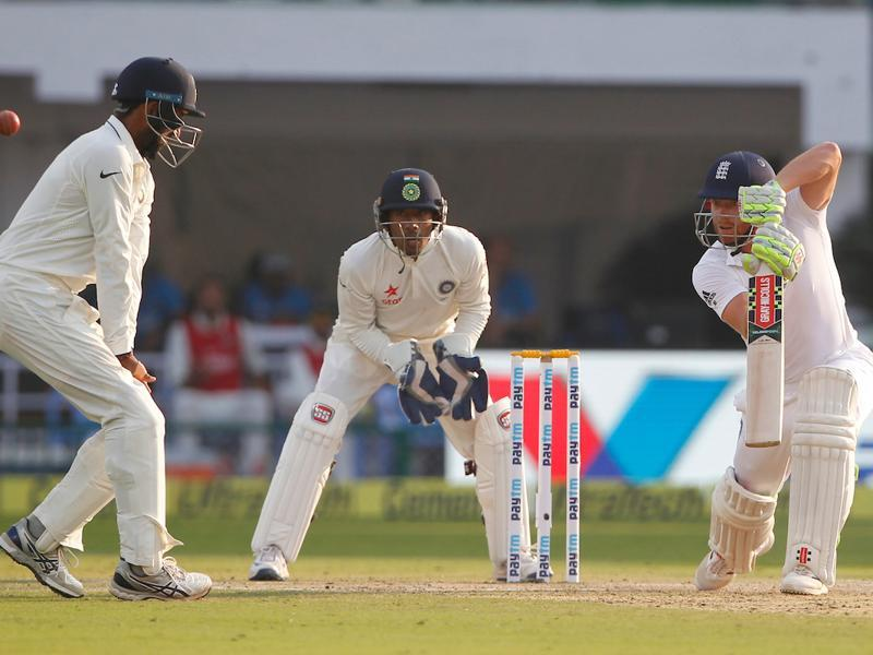 Jonny Bairstow of England bats during day second of the 2nd test match. (BCCI/ SPORTZPICS)