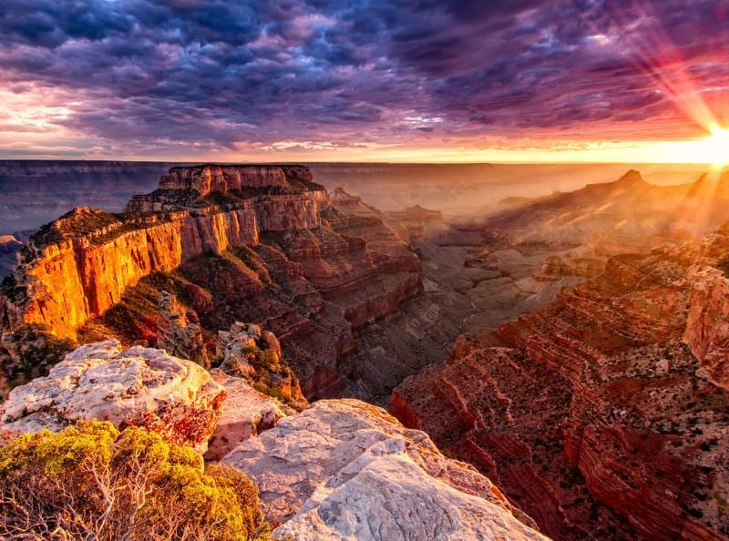 Located in the state of Arizona in the United States, the Grand Canyon is a steep-sided canyon created by the river Colorado. (AFP)