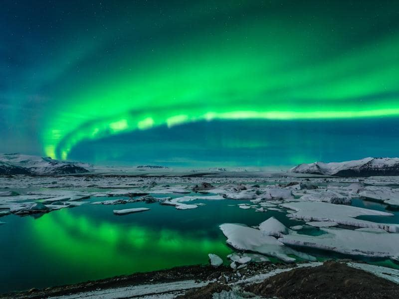 Northern Lights are a natural phenomenon which show a light display in the sky. It occurs in Arctic and Antarctic regions. (AFP)