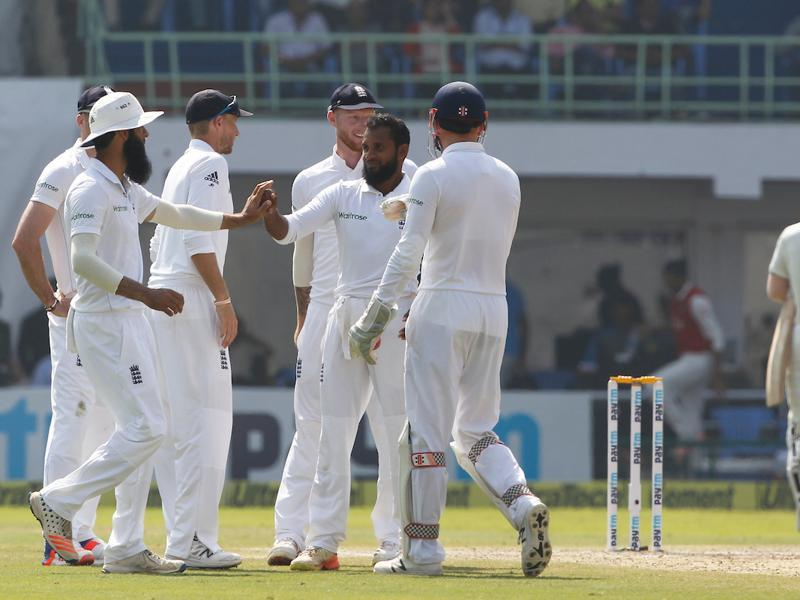 Adil Rashid was giving Stuart Broad great company as he also picked up four wickets. (BCCI)