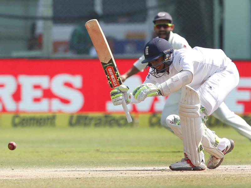 Haseeb Hameed  was tackling the conditions admirably as England did not lose a wicket in the second session. (BCCI)