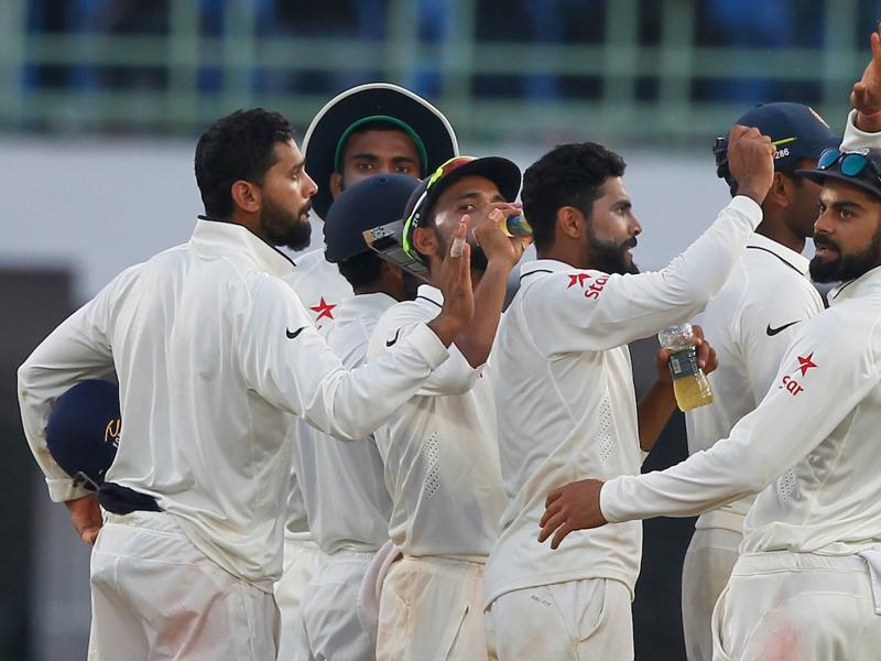 Ravindra Jadeja gave India more joy when he removed Alastair Cook for 54 in the final over of Day 4 to put India in the driver's seat. (BCCI)