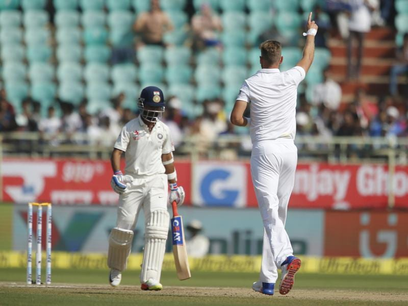 India started day 4 on a poor note as Stuart Broad dismissed Ajinkya Rahane for 26. (AP)