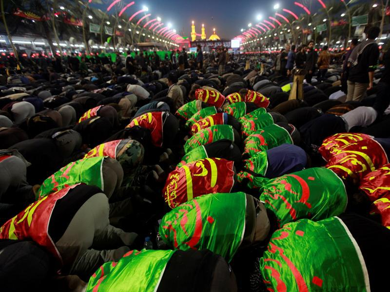 Arbaeen, which means 'forty',  marks the end of the 40-day mourning period for the killing of Imam Hossein, Prophet Muhammad's grandson.  (Alaa Al-Marjani/REUTERS)