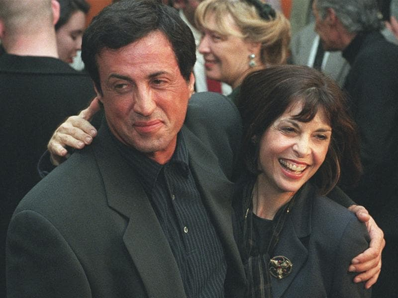 Captured on November 15, 1996,Sylvester Stallone poses with Rocky co-star Talia Shire before a screening of the film to mark its 20th anniversary at the Academy of Motion Picture Arts and Sciences in Beverly Hills, California. (AP Photo)