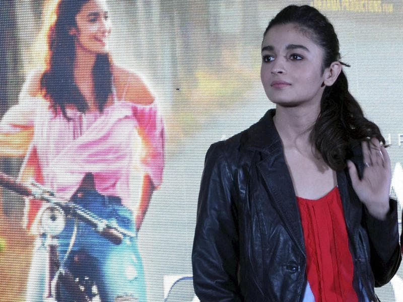 Bollywood actor Alia Bhatt at a promotional event of her upcoming film Dear Zindagi. (PTI)