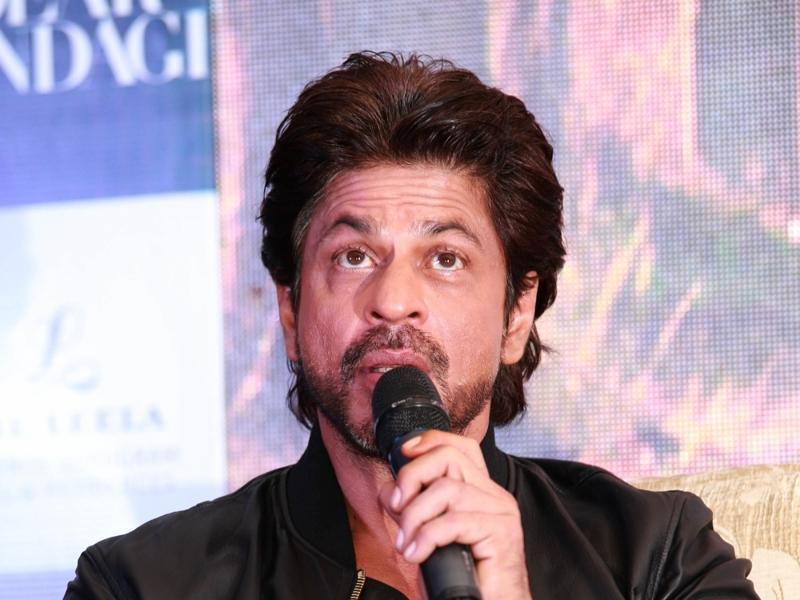 Actor Shah Rukh Khan answers questions at a press conference to promote Dear Zindagi. (IANS)