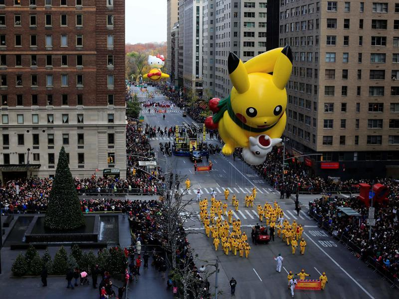To catch this Pikachu, you will need some really big Pokeballs! (REUTERS)