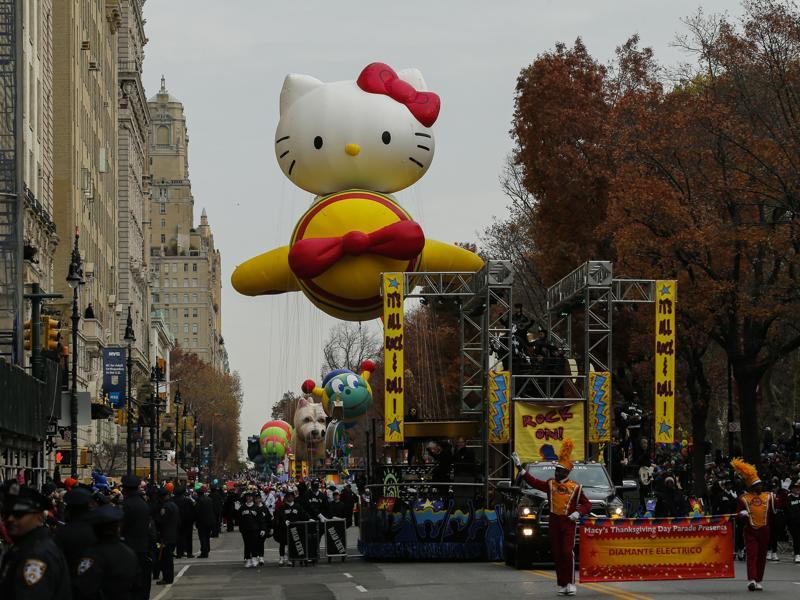 Hello Kitty made a grand entrance on an aeroplane.  (AFP)