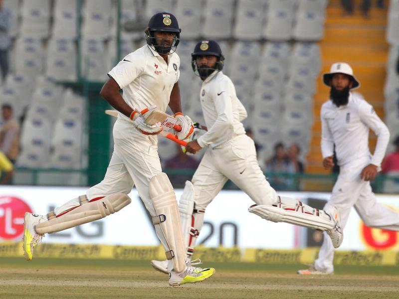 Ravichandran Ashwin and Ravindra Jadeja shared an unbeaten 67-run stand as India clawed back into the contest. (BCCI)