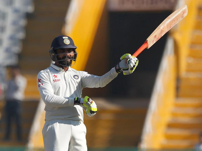 Ravindra Jadeja notched up his third fifty and second against England as he took the game away. (Photo by: Deepak Malik/ BCCI/ SPORTZPICS)