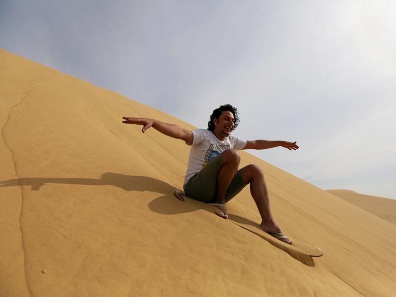 It falls under what is called the Egyptian Environmental Affairs Agency. A man sandboards... (REUTERS)